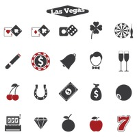 Set of las vegas icons