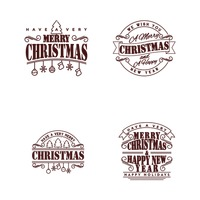 Set of merry christmas cards