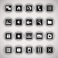 Set of mobile application icons