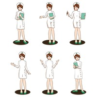 Set of nurse icons