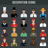 Set of occupation icons