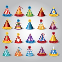 Set of party hats