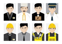 Set of profession people