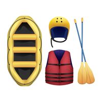 Set of rafting icons