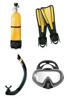 Set of scuba diving icons