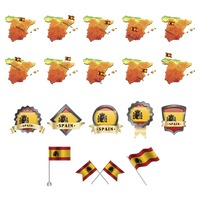 Set of spain flag and map icons