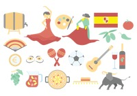 Set of spanish icons
