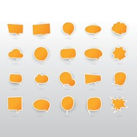 Set of speech and thought bubbles icon