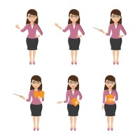 Set of teacher icons