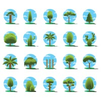 Set of tree icons