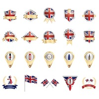 Set of united kingdom icons