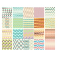 Set of zig-zag backgrounds