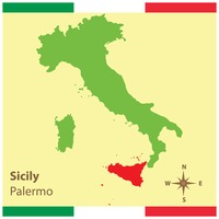 Sicily on italy map