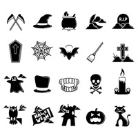 Silhouette of halloween collection