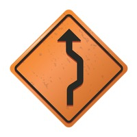 Single reverse curve sign