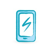 Smartphone with charger icon