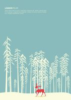 Snow forest poster design