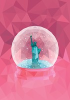 Snow globe of statue of liberty
