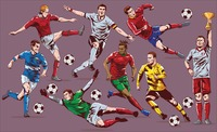 Soccer players set