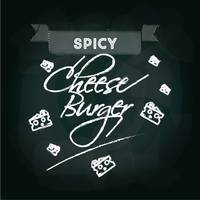 Spicy cheeseburger menu card design