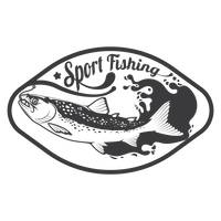 Sport fishing label