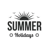 Summer holiday label