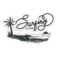 Surfing time typography