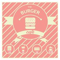 The burger cafe menu card design