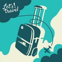 Travel concept with luggage bag