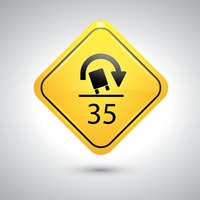 Truck rollover warning for sharp curves sign