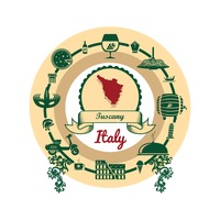 Tuscany map label