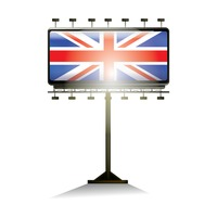 United kingdom flag billboard