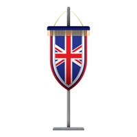 United kingdom flag pennant