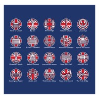 United kingdom landmark icons