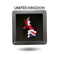 United kingdom map icon