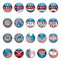 Usa election vote badges collection