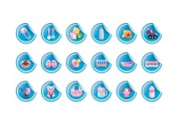 Various baby theme icons