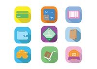 Various e-commerce icons