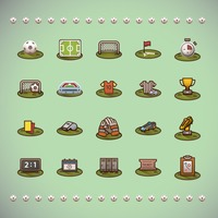 Various football theme icons