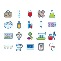 Various medical icons