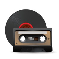Vinyl record and cassette tape