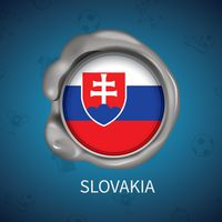 Wax seal of slovakia flag