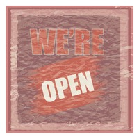We're open wallpaper