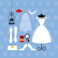 Wedding gown and accessories collection