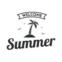 Welcome summer label