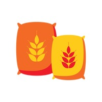 Wheat bag and flour Vector Image - 1245379 | StockUnlimited