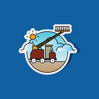 Wheel cherry picker icon