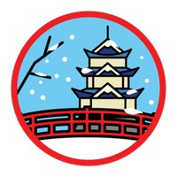 Winter snow pagoda bridge