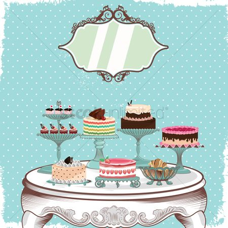Food : A table filled with cakes