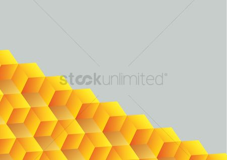 Vectors : Abstract seamless background with cube decoration